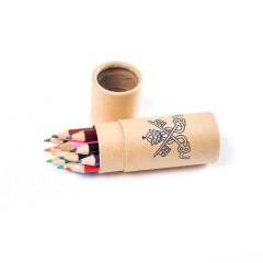 Boite ronde 12 mini crayons de couleur